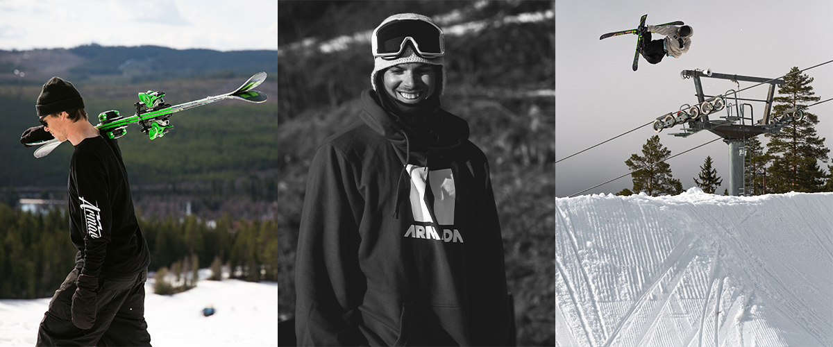 Kim Boberg Titel Picture with Ski