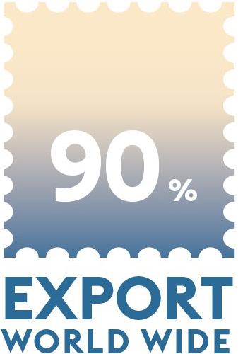 90 % export world wide